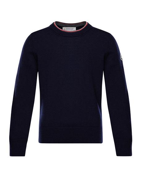 Maglia Virgin Wool Long-Sleeve Sweater, Size 4-6