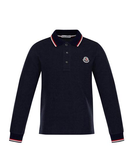 Long-Sleeve Logo Polo, Size 8-14