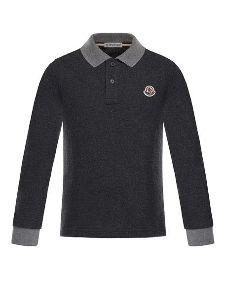 Long-Sleeve Maglia Polo, Size 8-14