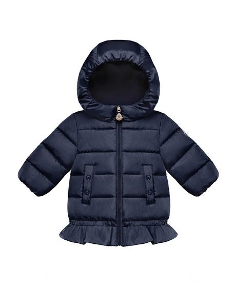 Azinza Peplum Puffer Jacket, Size 12M-3T