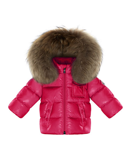 e3d186a79426 Moncler K2 Hooded Fur-Trim Puffer Coat