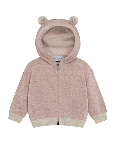 Maglia Virgin Wool Hooded Cardigan, Size 6M-3T