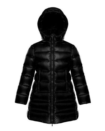 Suyen Hooded Long Puffer Coat, Sizes 4-6