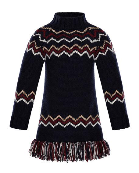 Abito Tricot Wool-Cashmere Knit Dress, Size 4-6