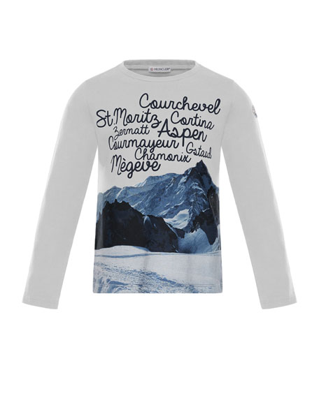 Moncler Maglia Long-Sleeve Graphic T-Shirt, Size 8-14