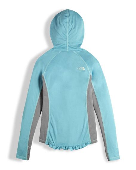 Girls' Long-Sleeve Reactor Hoodie, Light Blue, Size XXS-XL