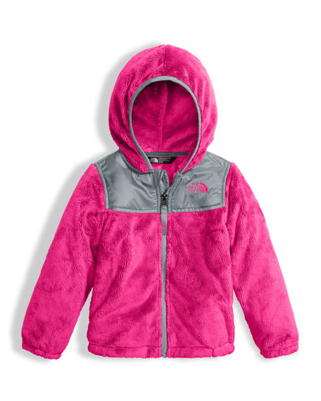 Girls' Oso Fleece Zip Hoodie, Pink, Size 2-4T