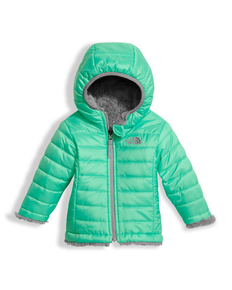 Reversible Mossbud Swirl Jacket, Green, Size 3-24 Months