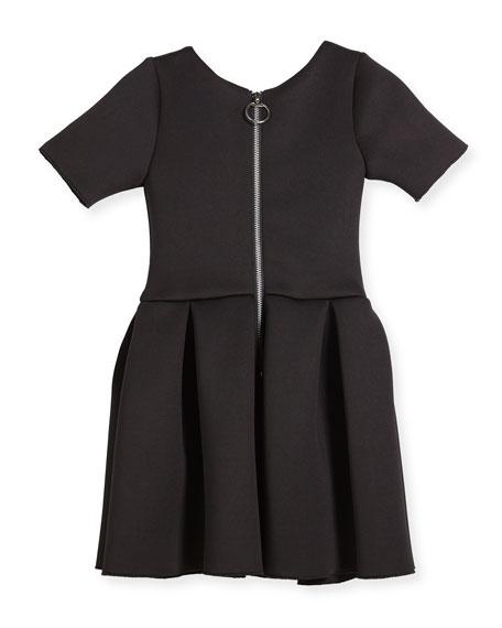 Flower Stud Box-Pleat Dress, Size 7-16