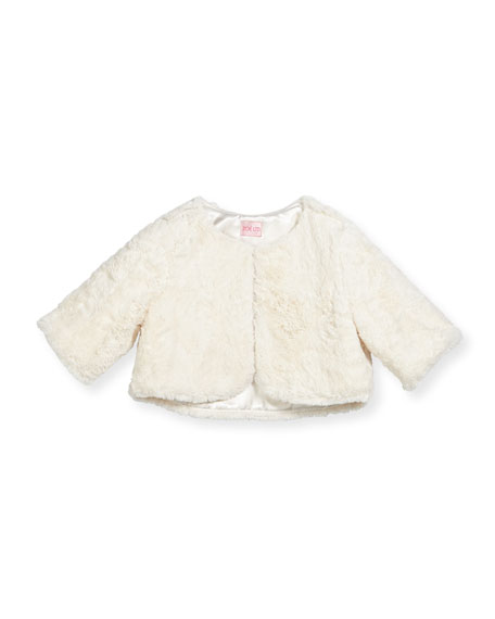 Faux-Fur Cropped Shrug, Size 2-6