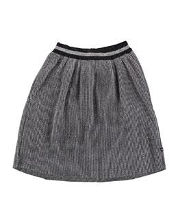 Birdie Metallic Pleated Skirt, Size 3T-14