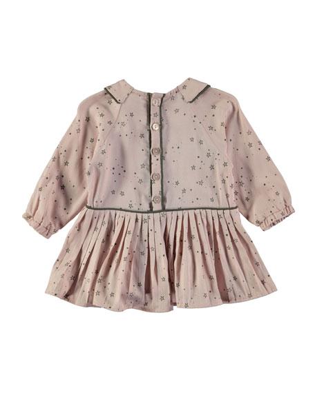 Crystala Long-Sleeve Star Dress, Size 12-24 Months