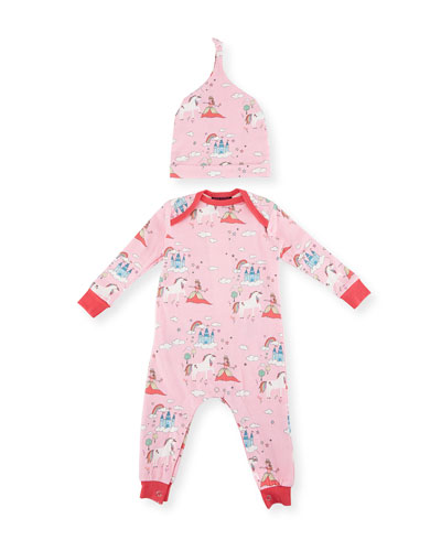 Unicorn Princess Knit Coverall w/ Hat