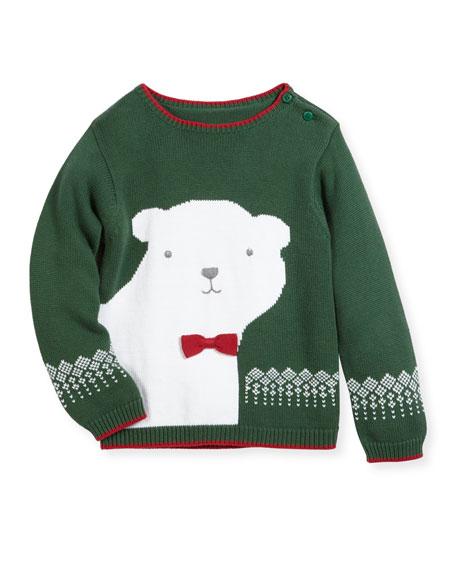 Knit Polar Bear Sweater, Size 2T-7
