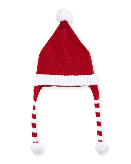 Boys' Polar Bear Knit Santa Hat