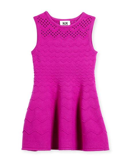 Milly Minis Chevron Ottoman Dress, Size 8-14