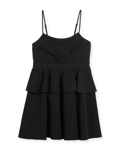 Tara Italian Cady Peplum Dress, Size 8-16