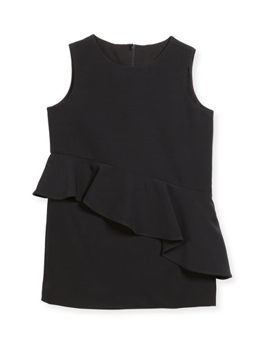 Logan Italian Cady Ruffle Dress, Size 8-16
