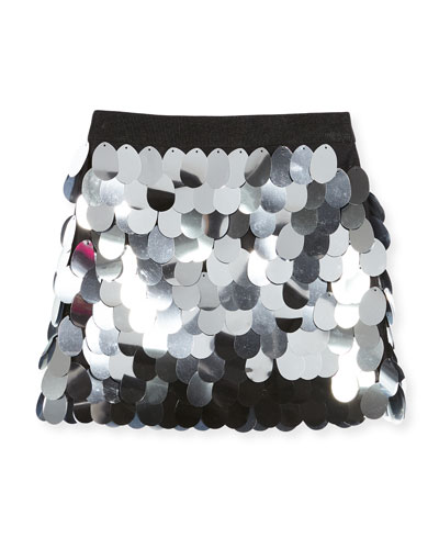 Paillette Sequin Mini Skirt, Size 8-16