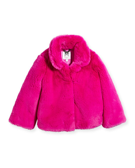 Faux-Fur Jacket, Size 8-14