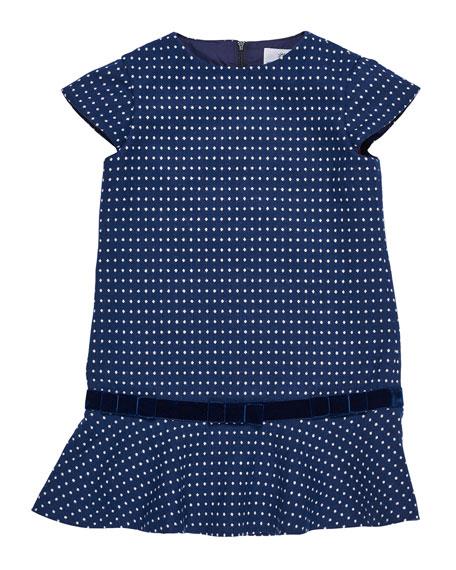 Jacquard Knit Sweater Dress, Size 7-10