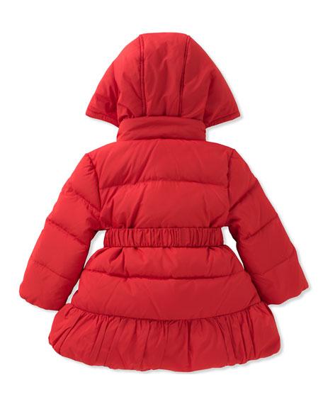 rosette puffer coat, size 12-24 months