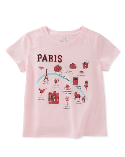 paris map tee, size 2-6