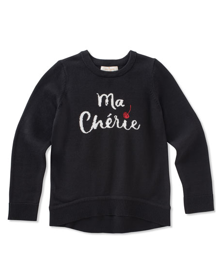 ma cherries knit sweater, size 7-14