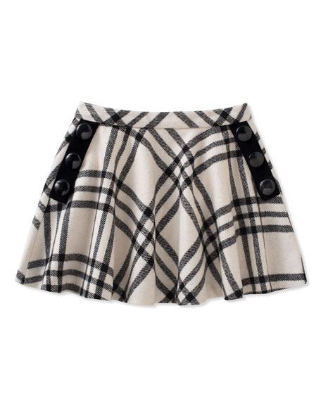 girls' plaid shirt w/ buttons, size 7-14
