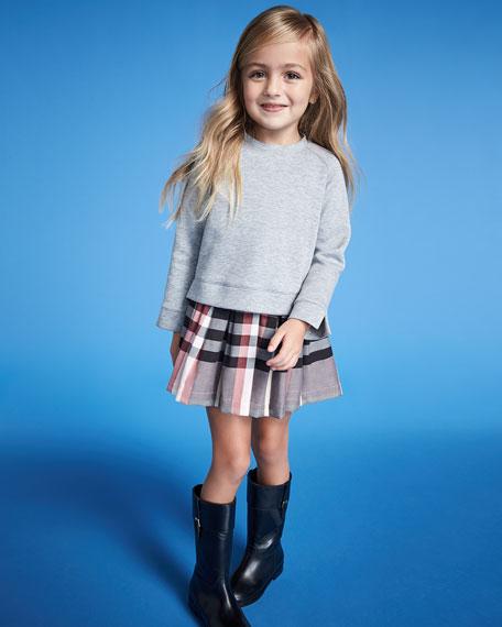 Francine Sweatshirt Check Dress, Size 4-14