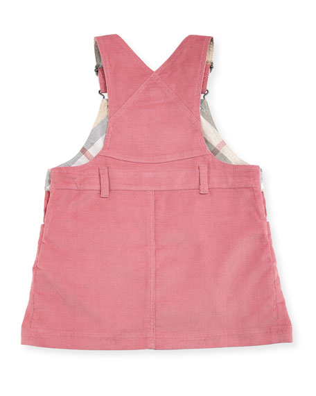 Wilma Corduroy Overall Dress, 3-24 Months