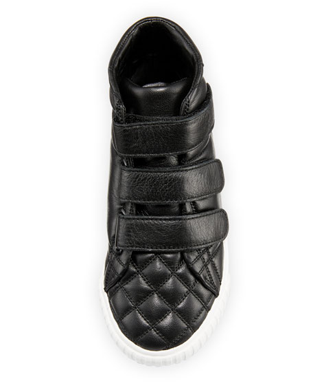 Sturrock Quilted Leather High-Top Sneaker, Youth