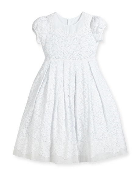 Gala Organdy Lace Dress, Size 4-6
