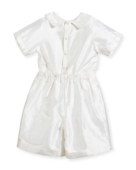 Boys' Sebastian Two-Piece Silk Ring Bearer Set, White, Size 2-4
