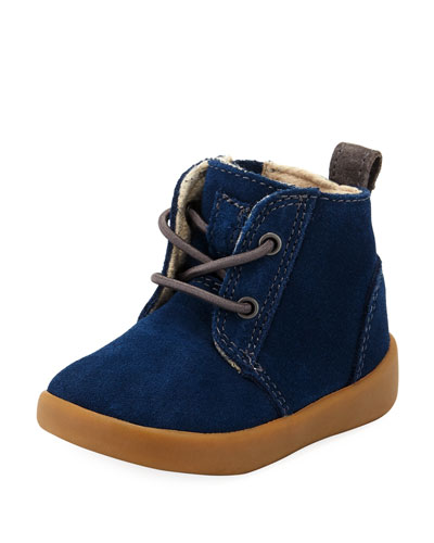Girls' Suede Kristjan Boot, Navy, Infant