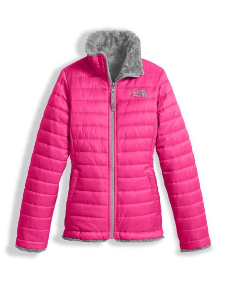 the north face girls reversible mossbud swirl jacket pink size xxs xl rh bergdorfgoodman com