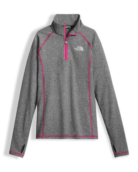 Pulse Stretch Half-Zip Pullover, Gray, Size XXS-XL