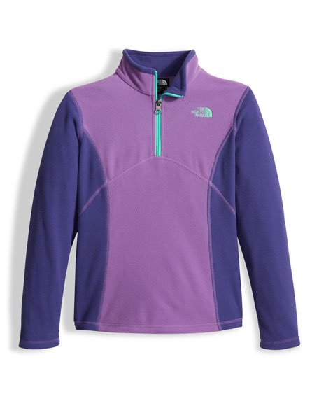 Glacier Two-Tone Fleece Half-Zip Pullover, Purple, Size XXS-XL