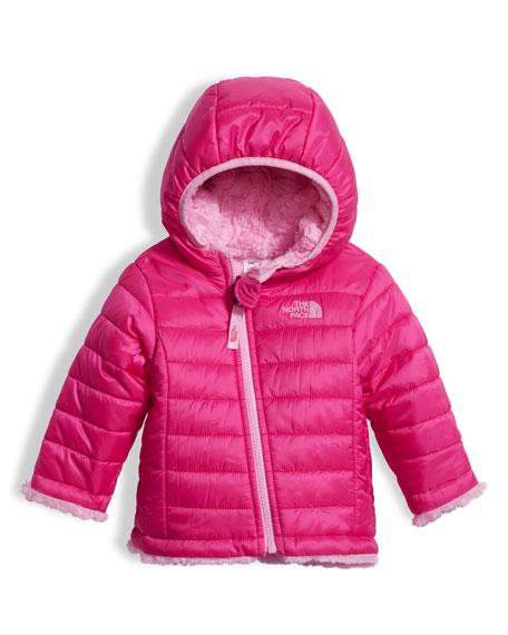 Girls' Reversible Mossbud Swirl Jacket, Pink, Size 3-24 Months