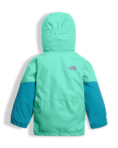 Girls' Kira Triclimate Waterproof Jacket, Green, Size 2-4T