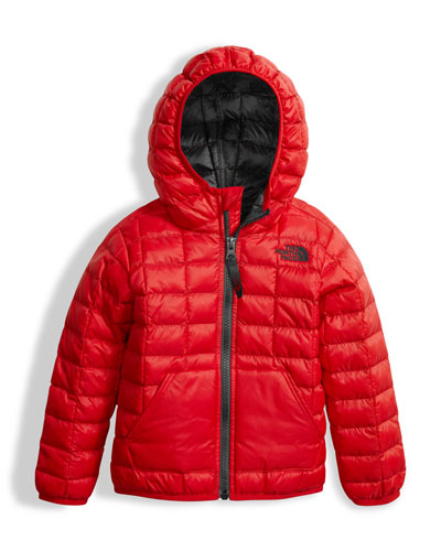 ThermoBall Hooded Jacket, Red, Size 2-4T