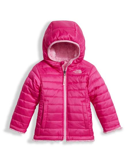 Girls' Reversible Mossbud Swirl Jacket, Pink, Size 2-4T