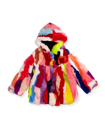 Multicolor Fur Coat, Sizes 2T-12Y