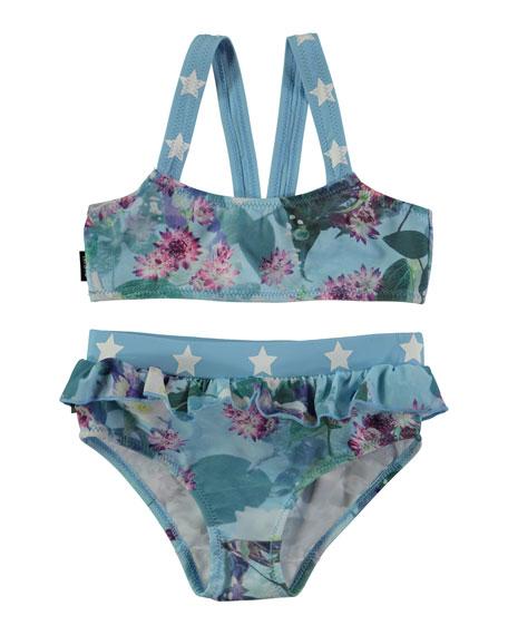 Naila Floral Bikini with Star Detail, Size 9M-10