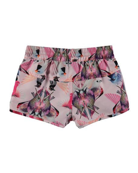 Nalika Birds Swim Shorts, Size 2T-12