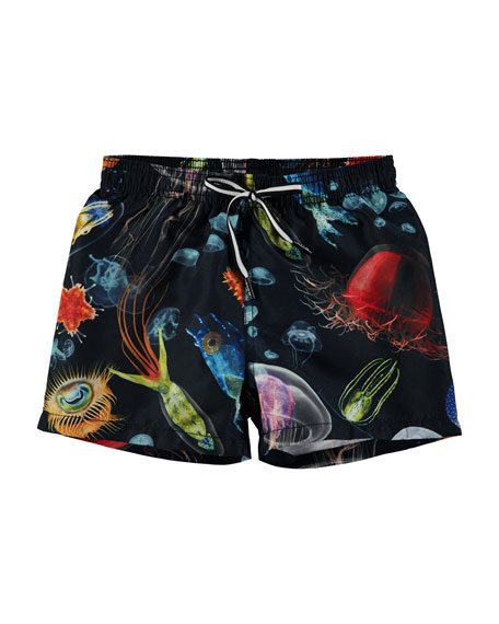 Boys' Niko Deep Sea Creatures Swim Shorts, Size 18M-10