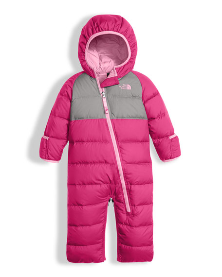 Girls' Lil' Snuggler Quilted Down Bunting, Pink, Size 3-12 Months