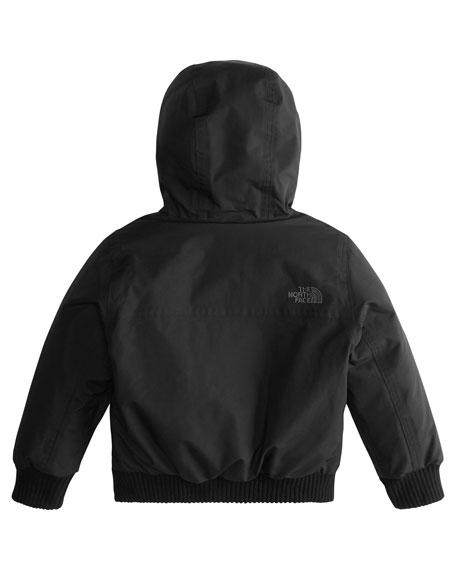 Gotham Down Hooded Jacket w/ Faux-Fur Trim, Black, Size 2-4T