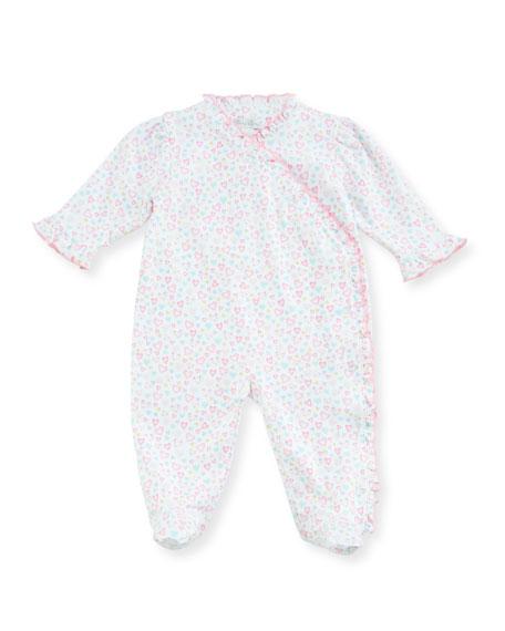 Dina Darlings Ruffle Footie Pajamas, Size Newborn-9M