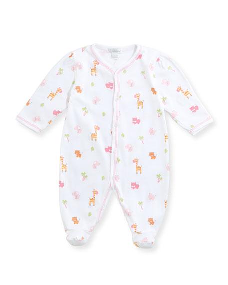 Safari Stroll Pima Footie Pajamas, Size Newborn-9M